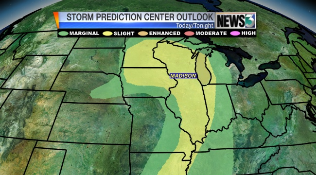 Strong to severe storms possible mid-afternoon into evening