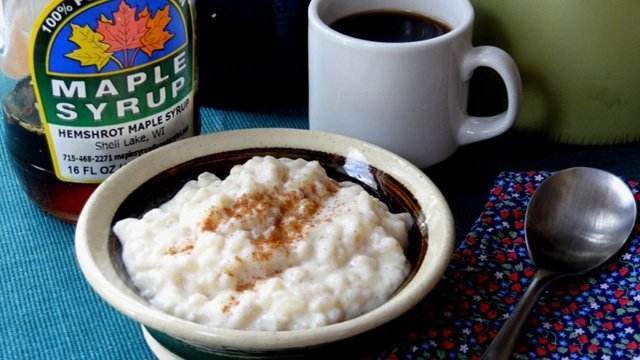 Donna's Rice Pudding Sweetened With Maple Syrup