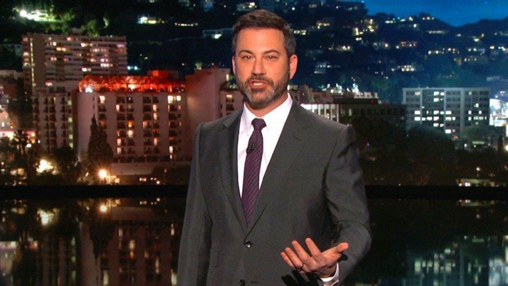Kimmel gets Tom Brady to throw football through Matt Damon's window