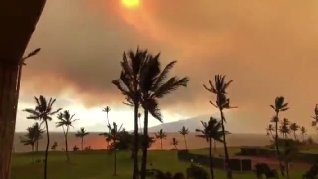 Evacuations underway as raging fire burns 3,000 acres in Maui