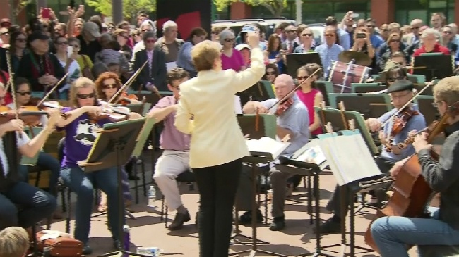 Madison man plays for peace in Baltimore