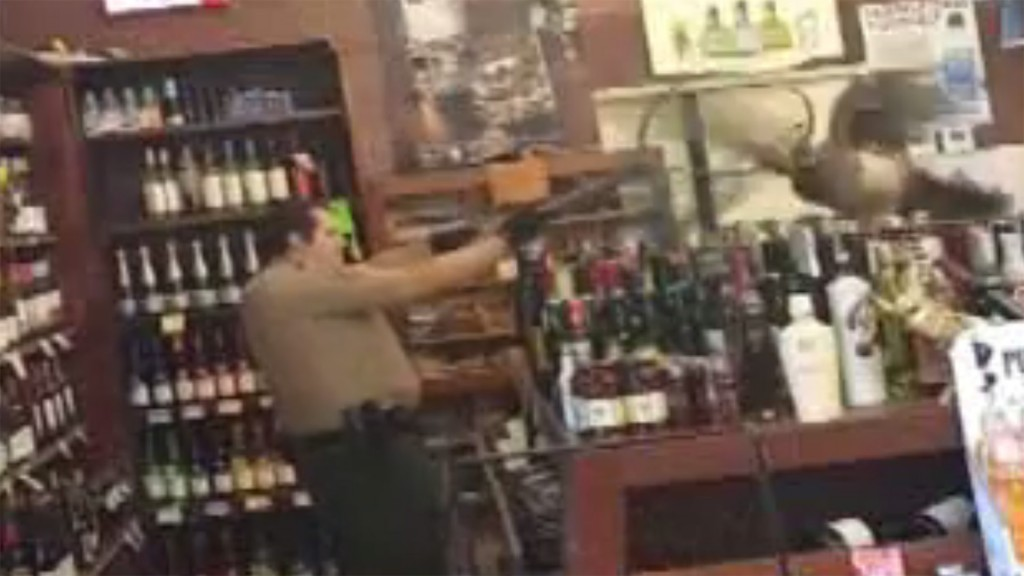 Peacock walks into liquor store, leaves $500 in damage