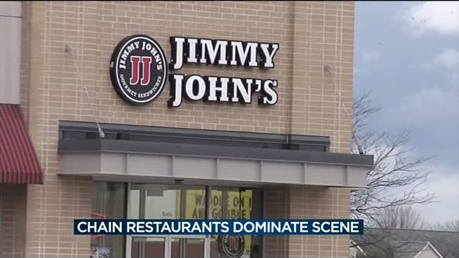 Business owners say local restaurants struggle against 'Chainsville' competition