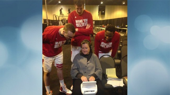 Indianapolis court reporters are Nigel Hayes fans now