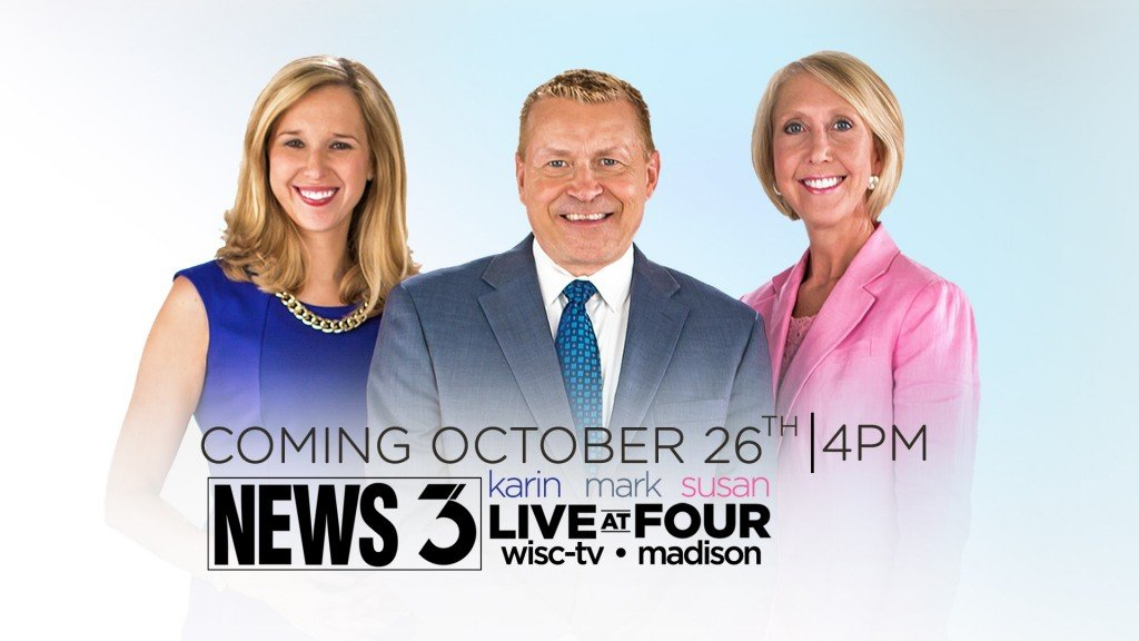 WISC-TV's Live at Five moves to 4 p.m., expands to one hour