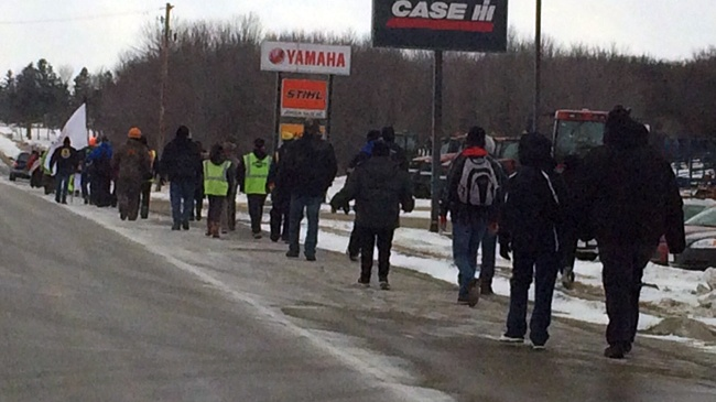 Menominee tribe march to Madison to lobby for casino