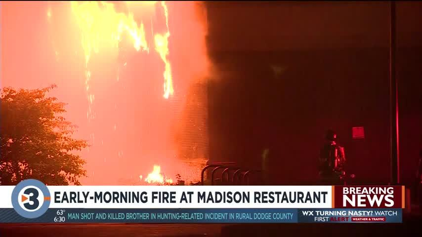 Firefighters respond to large fire at Madison Restaurant