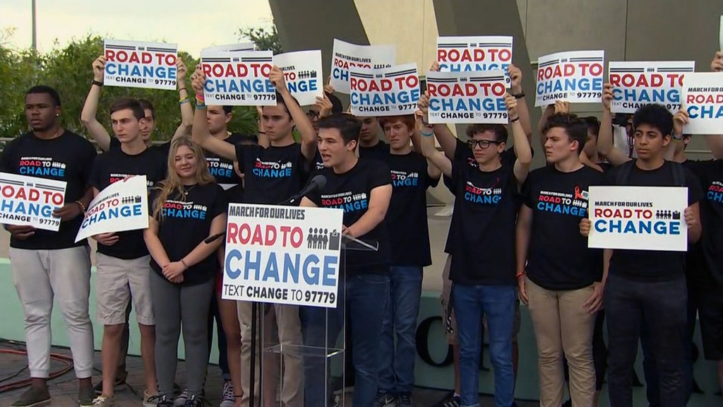 Parkland students will tour US to register voters, demand change