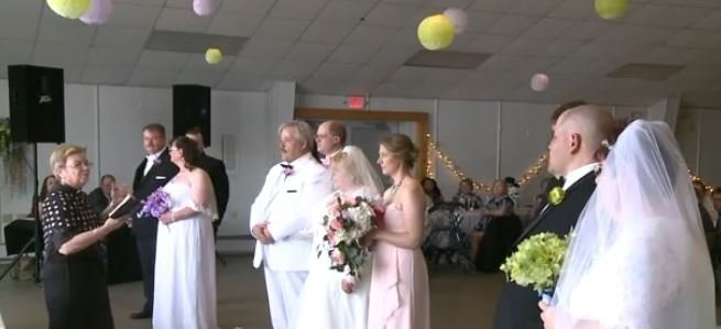 Three Pennsylvania brothers marry in triple wedding ceremony