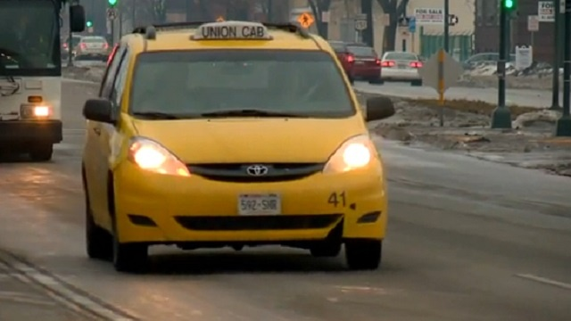 Cab slammed into by hit-and-run driver