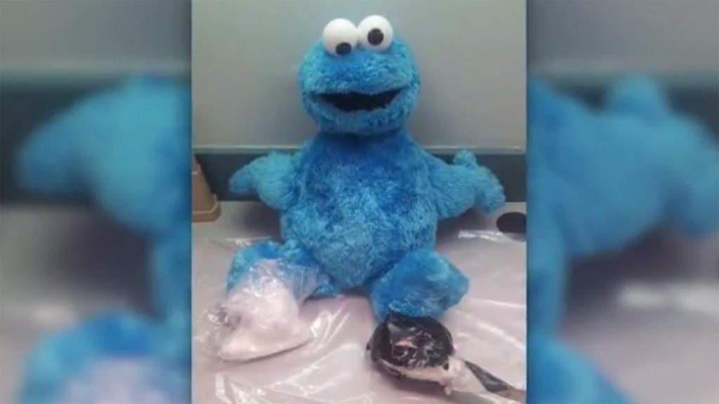 Om nom uh-oh! Cocaine found in Cookie Monster toy
