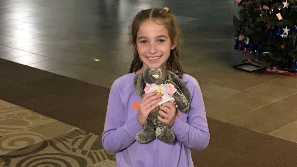 Social media helps reunite girl with lost stuffed bunny