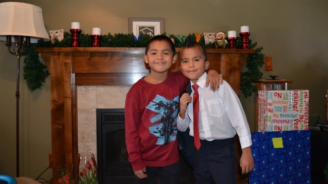Brothers spend first Christmas out of foster care with new family
