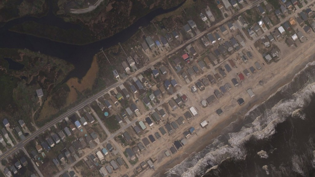 North Carolina barrier island evacuees can check damage via new aerial images