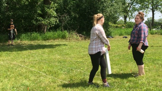 Crew surveys land in Rock County for lost grave sites