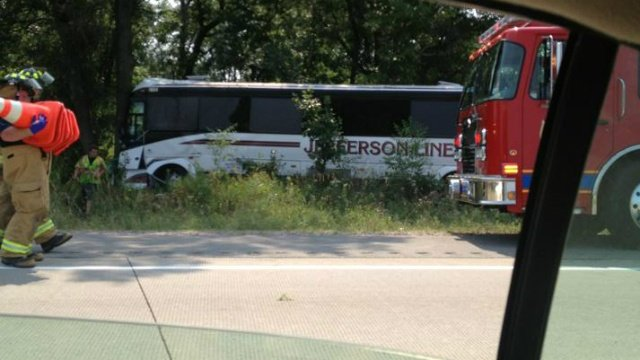 Bus passengers injured in I-90 crash, officials say