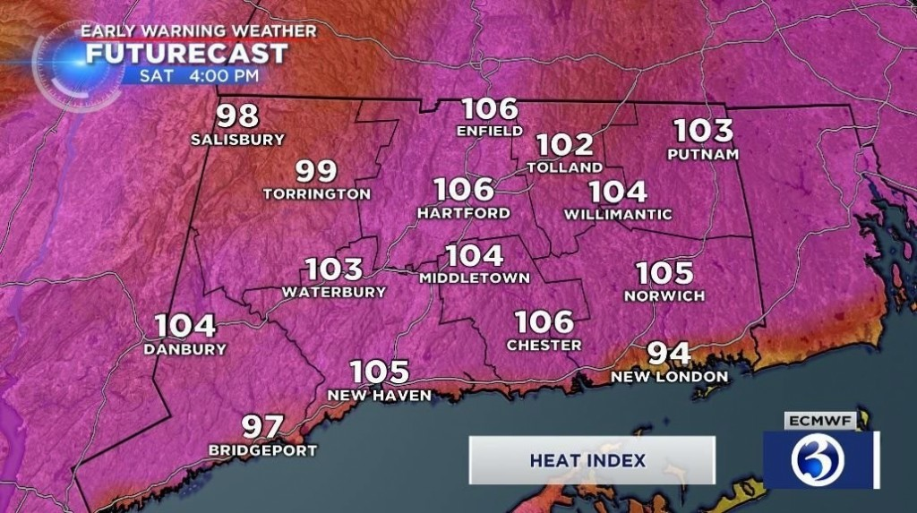Most extreme heat wave of the year has begun in Connecticut