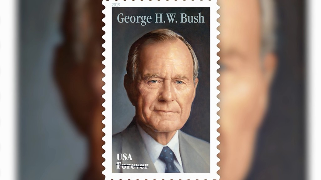 US Postal Service reveals new stamp honoring President George H.W. Bush
