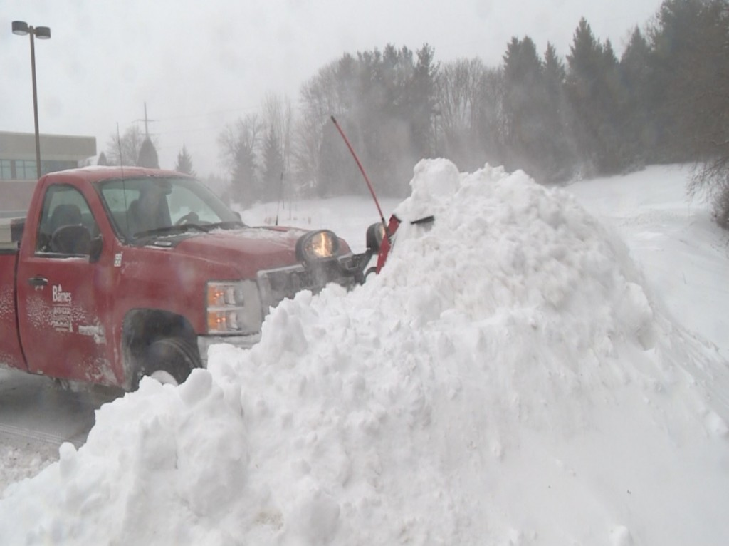 After slow season, winter storm means big plowing business