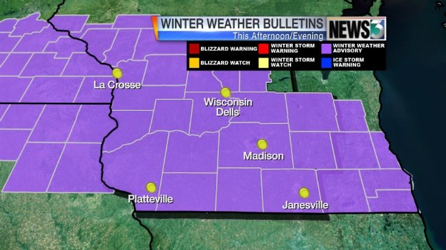 Snow Tuesday to impact evening commute