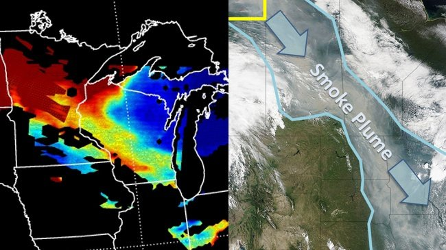 More haze in Wisconsin from Canadian wildfires