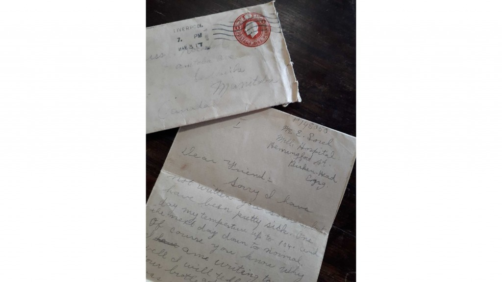 WWI letter found in box of old papers after almost 102 years