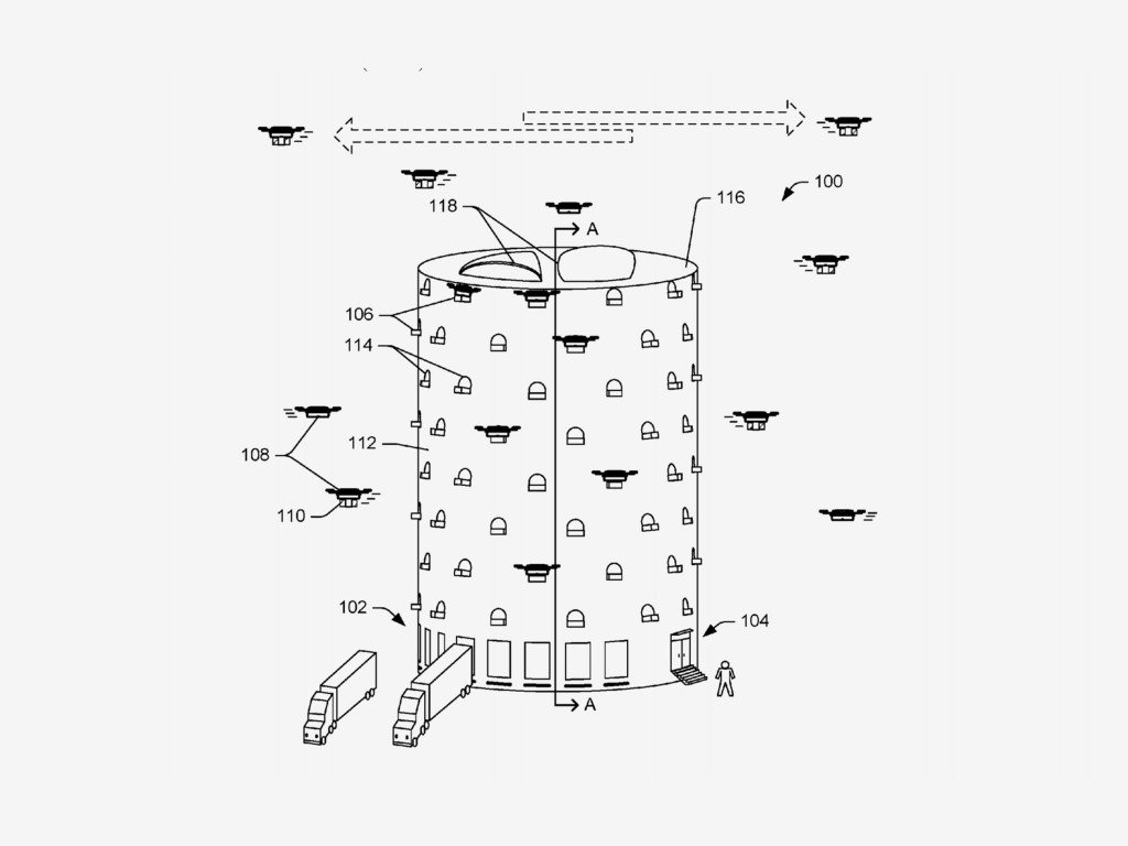 Amazon patent reveals drone delivery 'beehives'