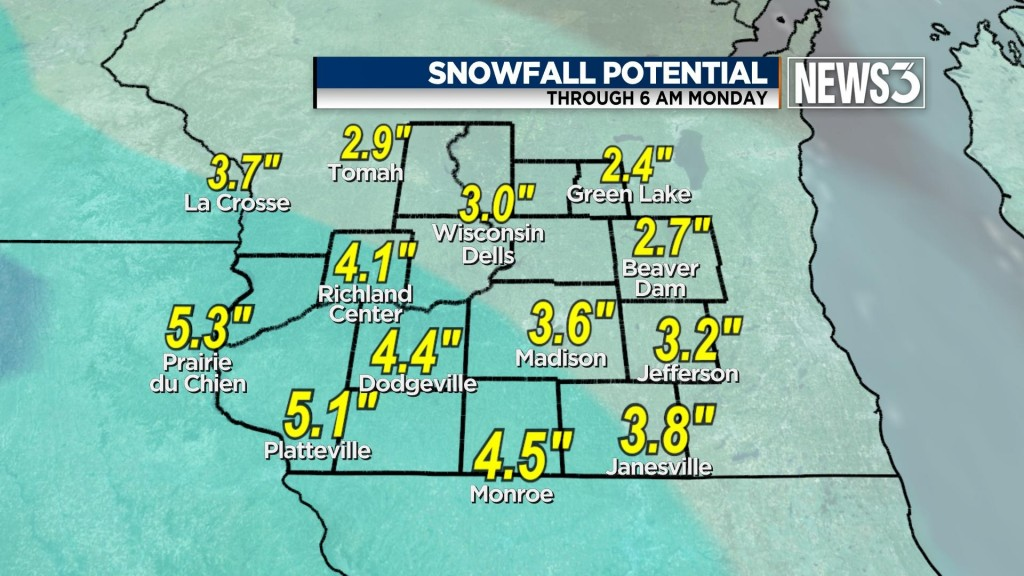 Winter weather advisories issued in Rock, Dane, more counties