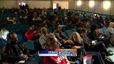 East side mayoral debate interrupted by protesters