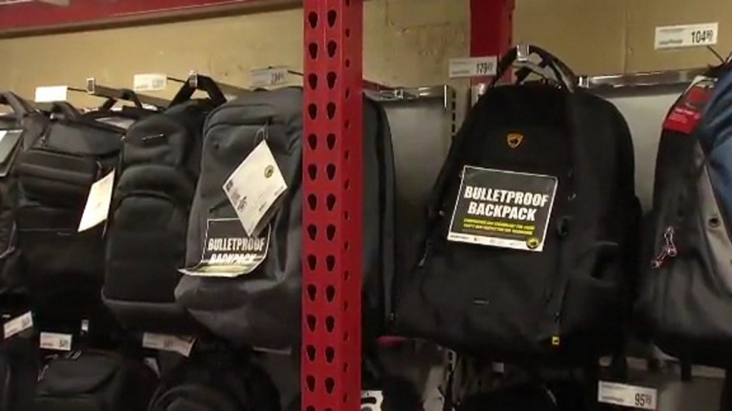 Bulletproof backpacks part of parents' back-to-school shopping lists