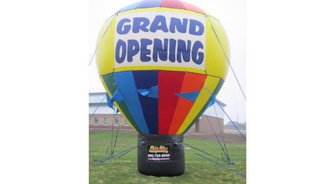 Large advertising balloon lifted by thieves
