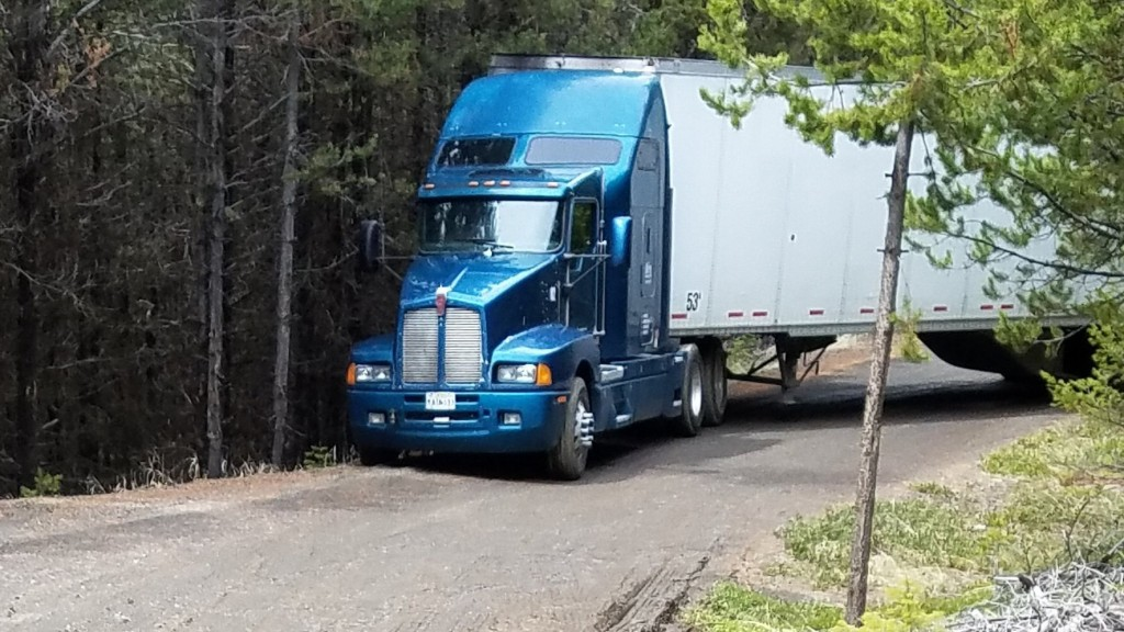 Trucker lost in the woods with truck full of chips, doesn't eat any