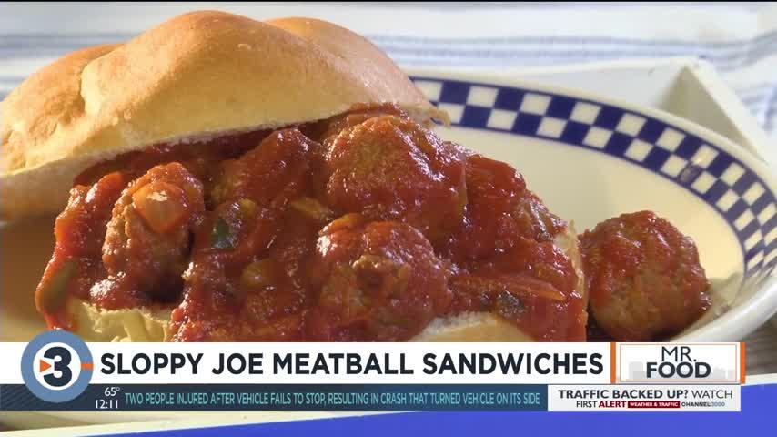 Mr. Food: Sloppy Joe Meatball Sandwiches