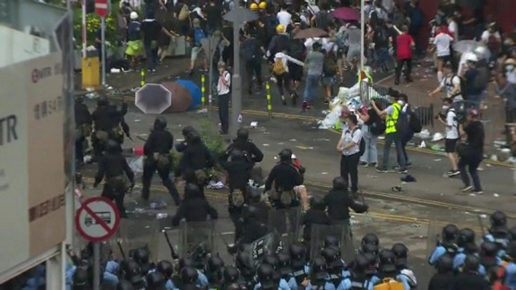 Hong Kong residents aim to leave after violent protests