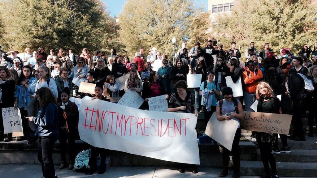 Protests break out after election of Donald Trump