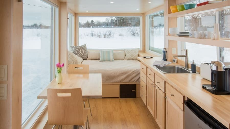 Tiny house on wheels has the Wright stuff