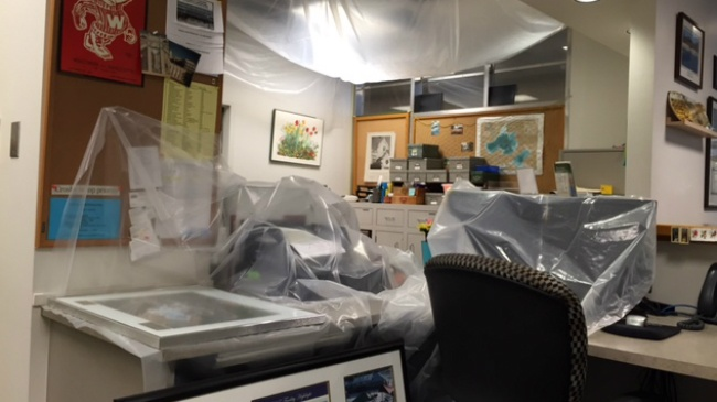 City, county offices flooded; Cleanup efforts to continue rest of week