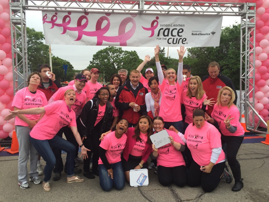 It was great seeing you at Race for the Cure!