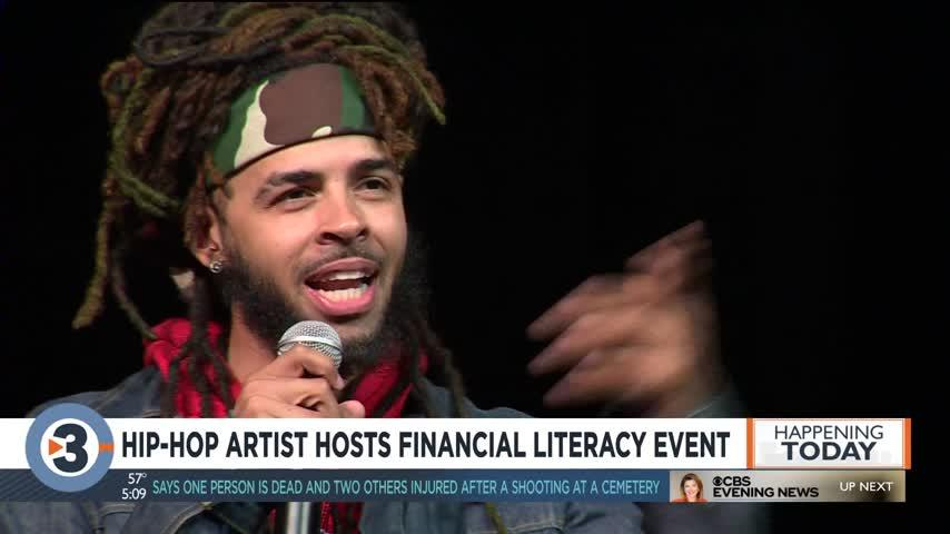 Hip-hop artist hosts financial literacy event