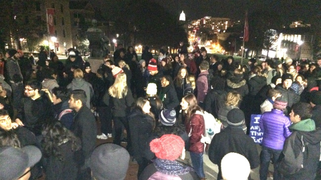 Hundreds march to Capitol in support of what's happening at Mizzou