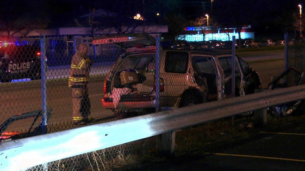 Police chase leads to crash on north side; 5 taken to hospital