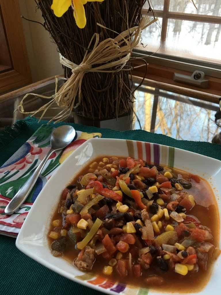 Donna's southwestern corn and bean soup
