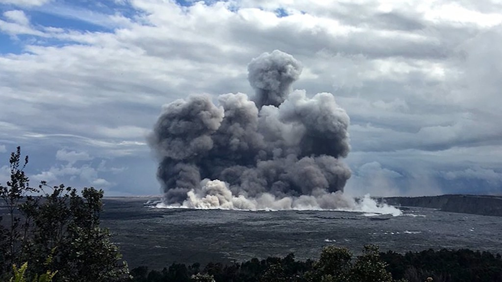 Ash eruption at Kilauea summit registered as 5.4 earthquake