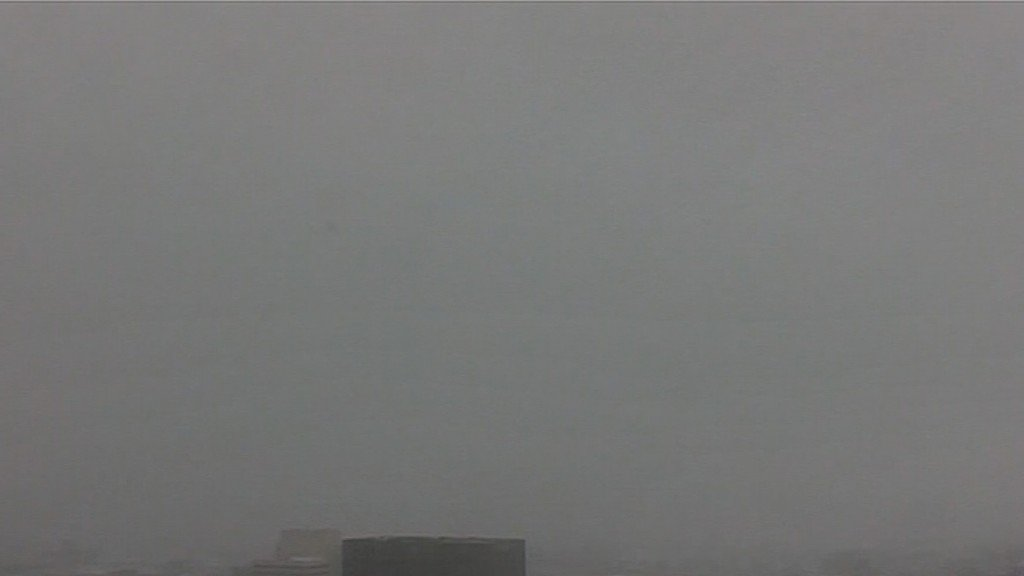 Time lapse of whiteout conditions in New York