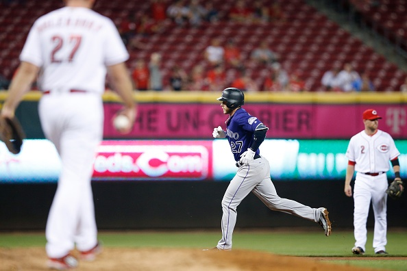 Story hits 8th HR as Rockies beat Reds