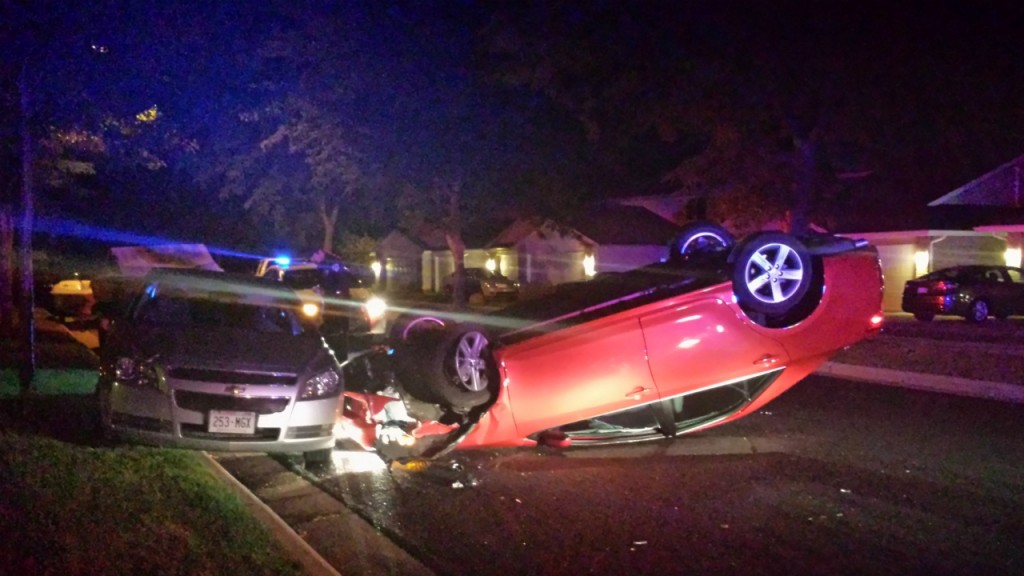 Pot found at scene of flipped car, police say