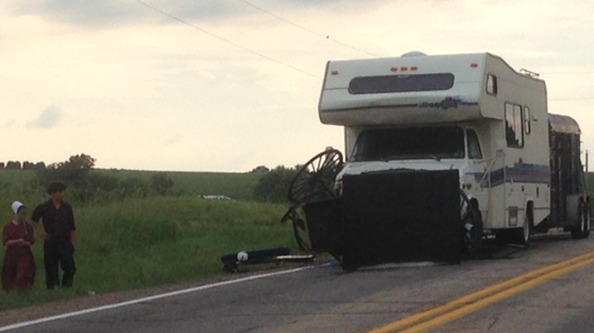 4 injured after camper hits buggy