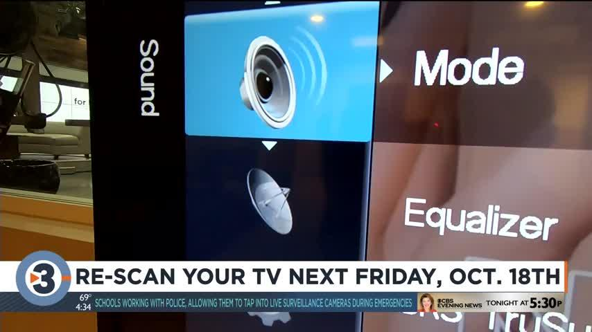 Re-scan your TV next Friday, Oct. 18th