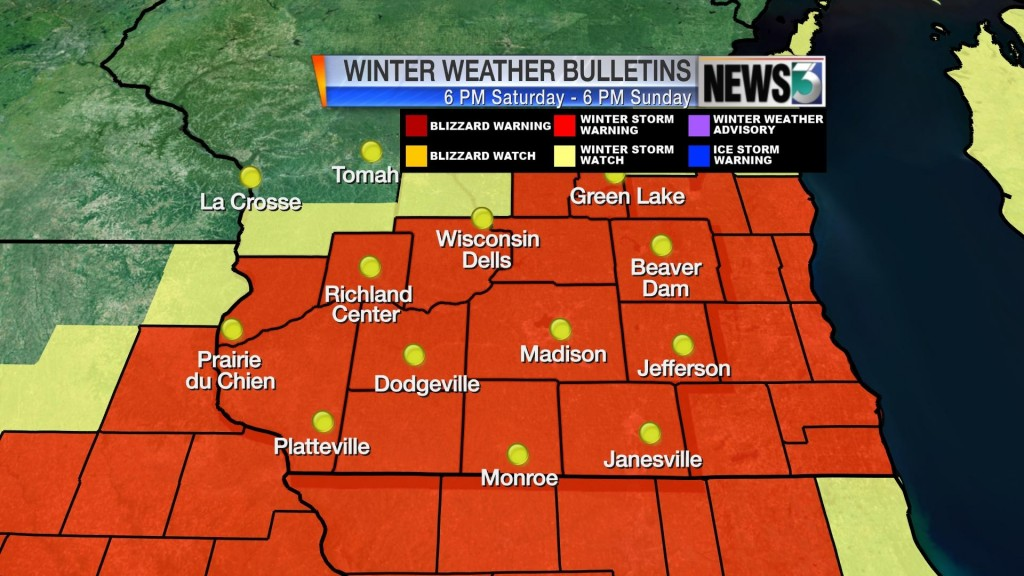 Heavy snowfall expected to total 5 to 10 inches