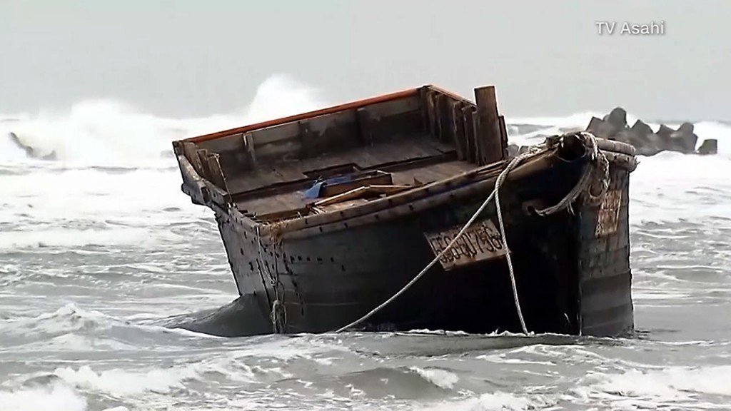 North Korean boats wash up in Japan with skeletons on board